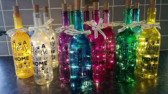 Coloured Bottle Lights