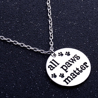 Hearts and Paws All Paws Matter Necklace