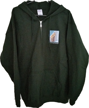 Give a Dog a Home Bottle Green Zip Up Hoodie
