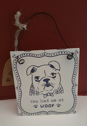 You had me at woof! Bulldog hanger