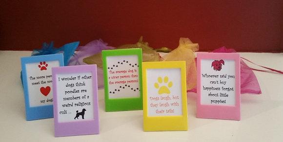 Mini Framed Doggie Quotes