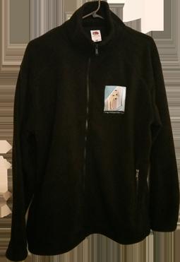 Black Emroidered Fleece