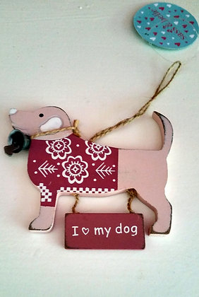 I Love My Dog - Medium plaque