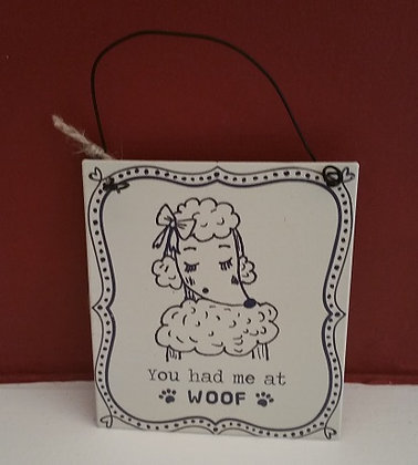 You had me at woof! Poodle hanger
