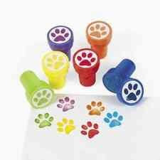 Self Inking Paw Print Stamps