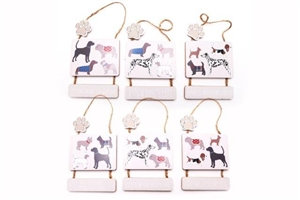 Hanging Dog Plaque 6 assorted 25cm