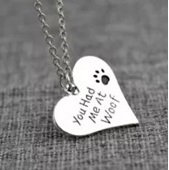 Hearts and Paws You Had Me at Woof Pendant