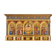 4  Incoronazione della Vergine tra angeli e santi (Polittico Baroncelli)