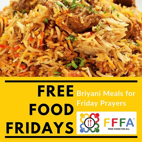 Free Food Fridays - Briyani Meals For Friday Prayers