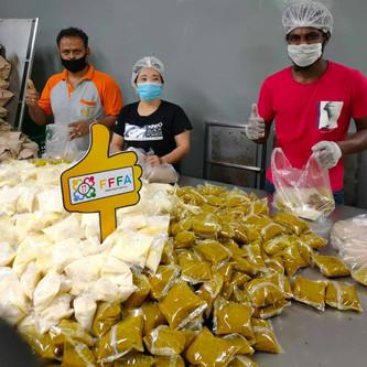 Sahur (Pre Dawn) & Break Fast Food Distribution to Migrant Workers