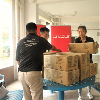 Oracle Corporation Singapore Partnered Up with Free Food For All