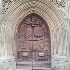 Door at Bath Abbey, UK