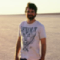 Micah Gallagher on set of Into the Sand. El Mirage dry lake bed