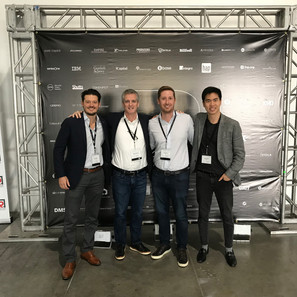 Kevin with CEOs of BlockFi, Vision Hill & Cadence