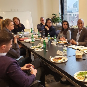 Coco & Kevin at Tech:NYC fintech working group lunch