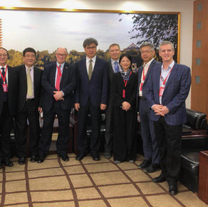 Coco & Kevin with Sir Douglas Flint and other dignitaries at Peking University