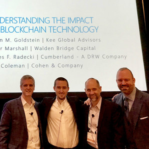Kevin with fellow panelists at Cohen & Co. 2018 Client Conference