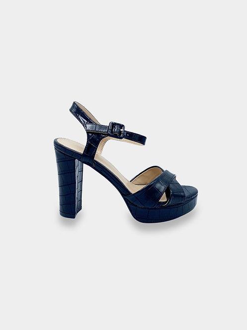 Sandalo con tacco stampa cocco