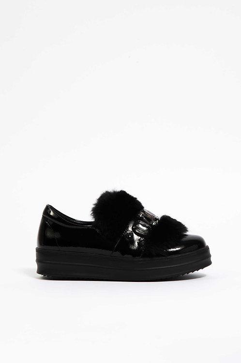 Solo Soprani scarpa con ecopellicia