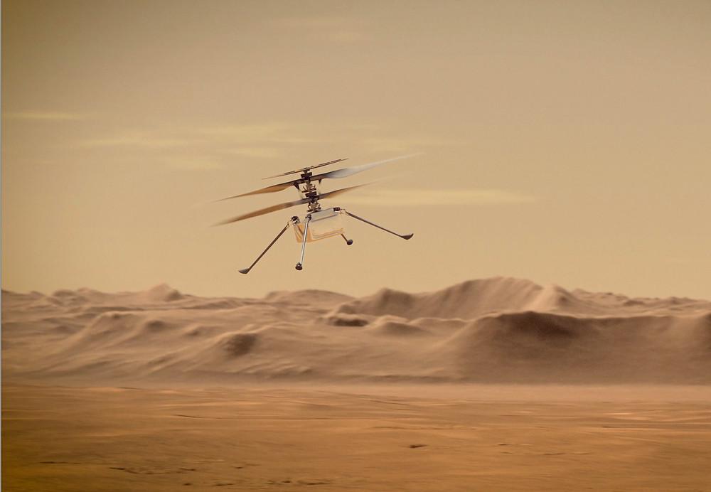Helicóptero Ingenuity em ilustração