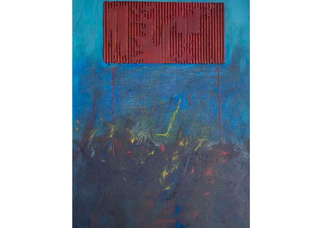Un cartón pintado de rojo