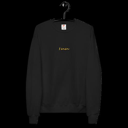 1MM Typo Fleece Sweat Shirt (Unisex)