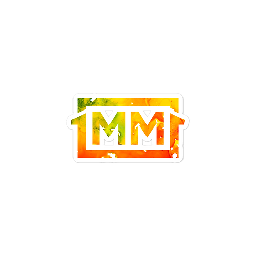 1MM Rasta Bubble-free stickers