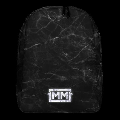1MM Black Marble Minimalist Backpack