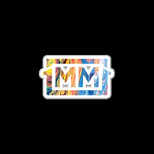 1MM Tye Die Marble Bubble-free stickers