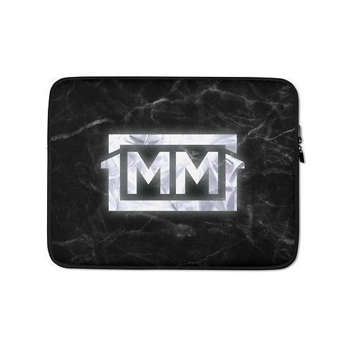 1MM Black Marble Laptop Sleeve