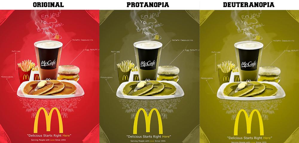 Afiche de McDonalds con comprobación de color