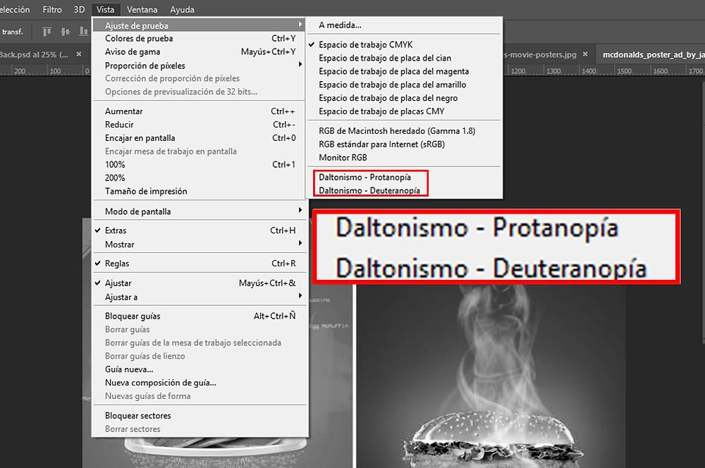 """Herramienta """"Daltonismo"""" en Photoshop"""