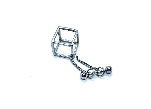 16g Barbell Dangling Cube