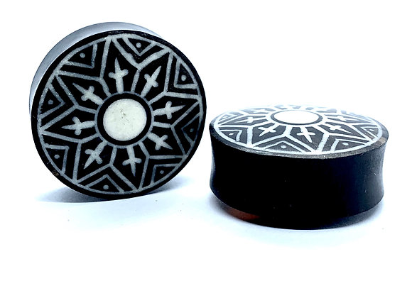 Black Tribal Star Plug