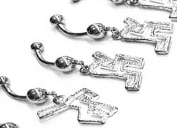 Navel Jewellery Shuffling Man 14g
