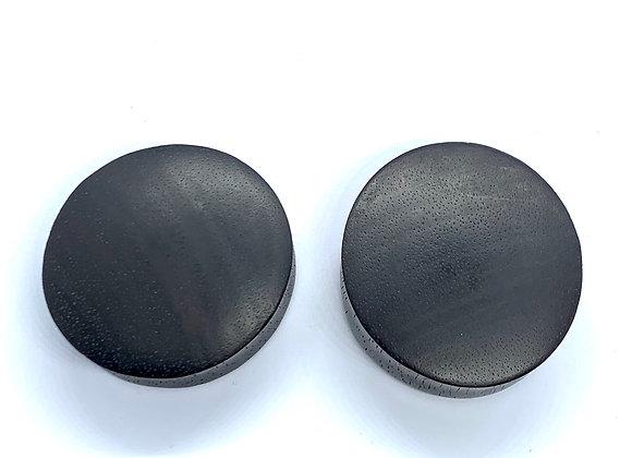 Areng Wood Black Oval Plug