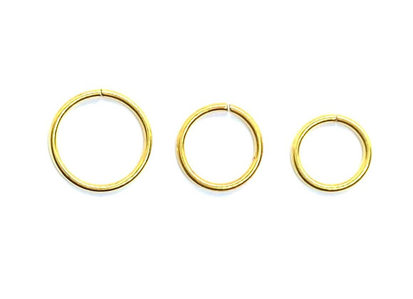 18g Gold Color Twist Ring 6mm 8mm 10mm
