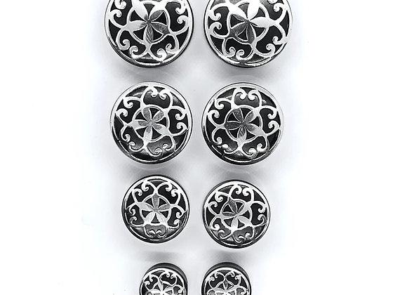 Organic Plug Persian Silver Motif Top