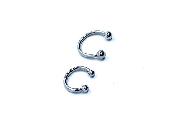 14g Septum Titanium High Polish Horseshoe