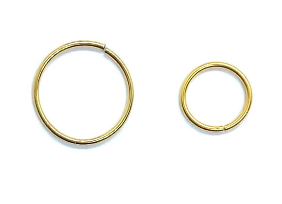 20g  Goldplated Twist Ring 8mm 10mm