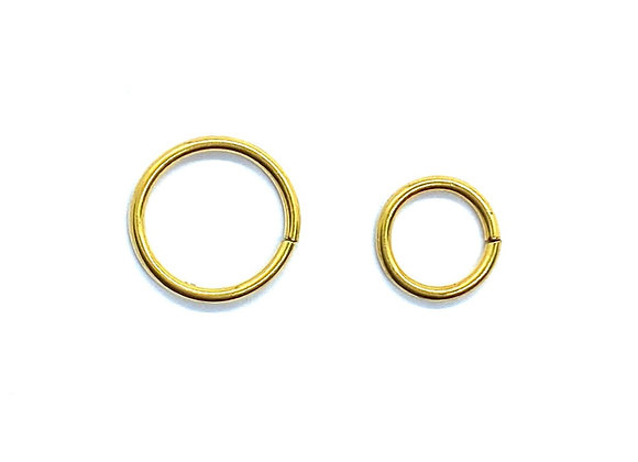 16g Gold Color Twist Ring 8mm 10mm