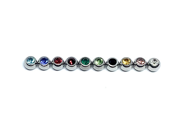 16g SS Color Crystal Ball 3mm