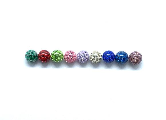 14g Acrylic Glitter 4mm balls