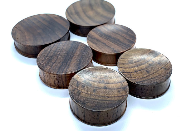 Saba Wood Concave Rhim Plugs
