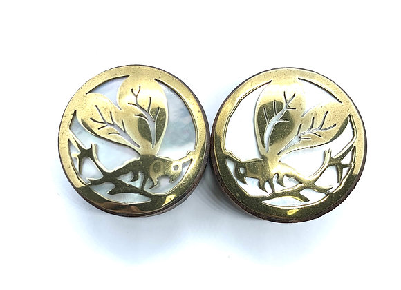 Organic Plugs Brass Design Top