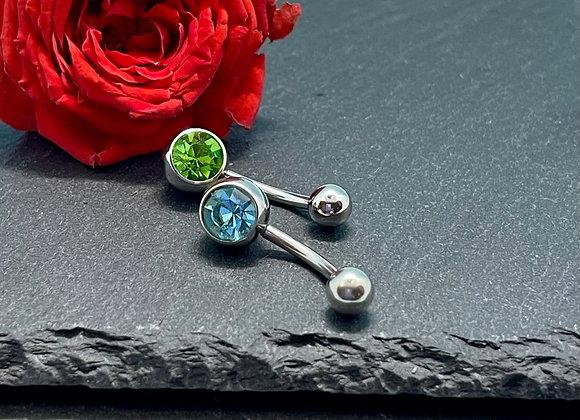 Piercing Navel Jewellery 2Pcs Green,Torquise