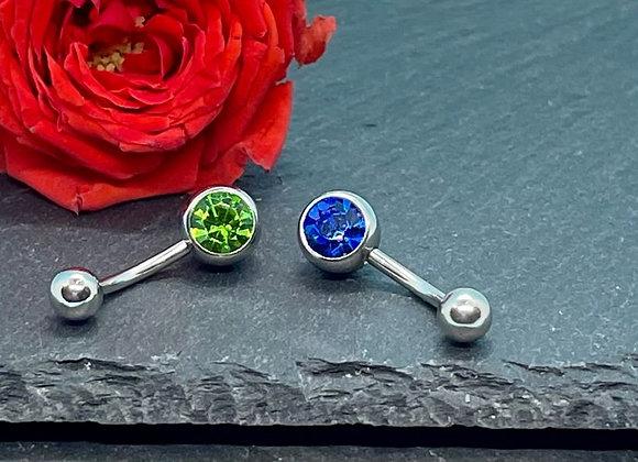 Piercing Navel Jewellery 2 Pcs Green, Blue