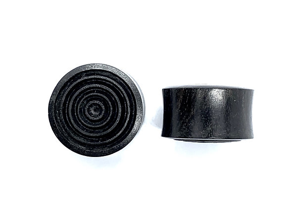 Continuous Circle Ebony Plugs