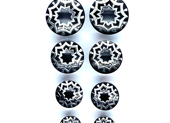 Organic Plugs Silver Star Burst