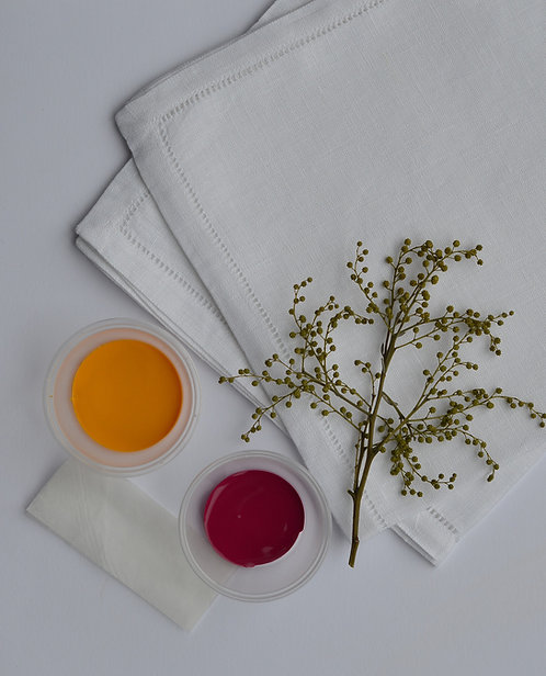 DIY Hand Printed Botanical Napkin Kit